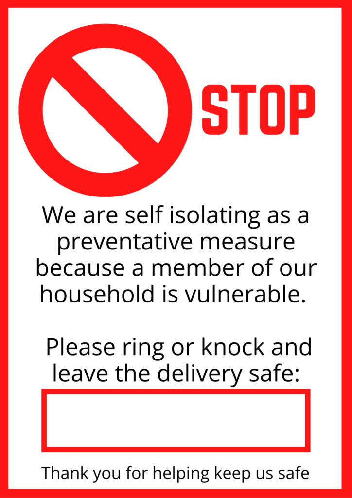 Self Isolation poster